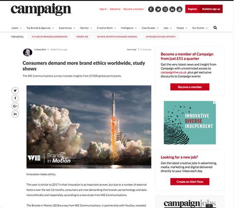 BiM Coverage - Campaign Magazine