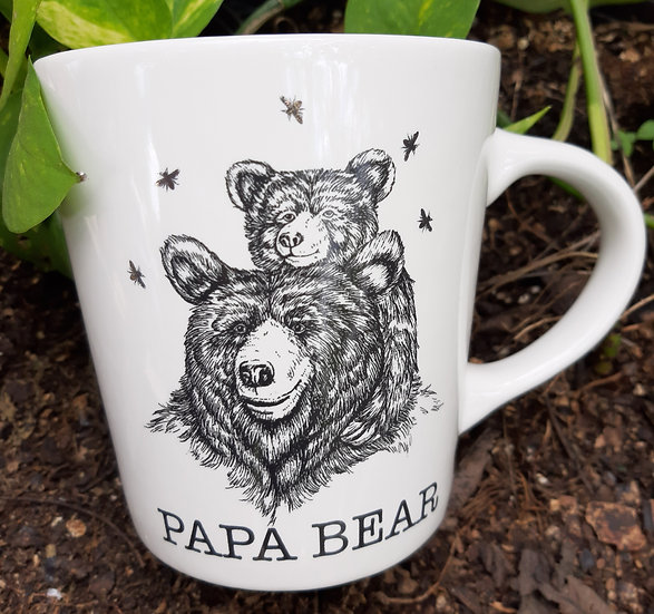 Papa Bear Father's Day Cup