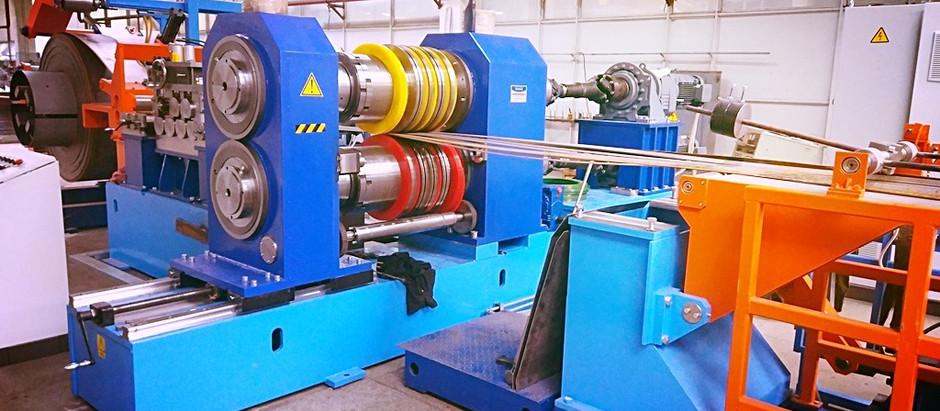 Запуск автоматической линии продольно-поперечной резки рулонного металла на полосы