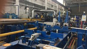 Запуск гидравлического пресса для проверки герметичности труб ГП20-89