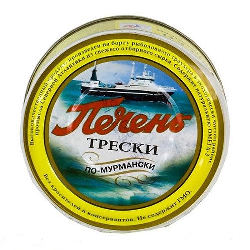 Печень трески паштет ж/б 230гр Мурманск (цена за шт)