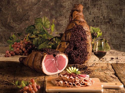 "Jambon cru affiné au vin rouge ""L'Umbriaco"" (100g)"