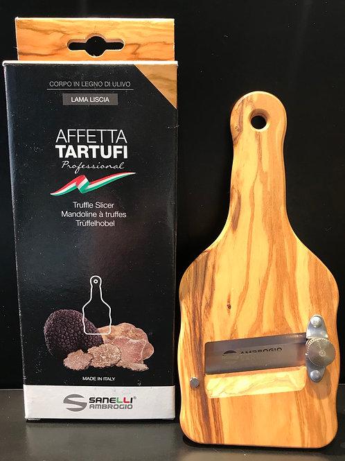 Mandoline pour truffes en bois d'olivier