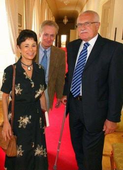 Hosting Czech President Vaclav Klaus