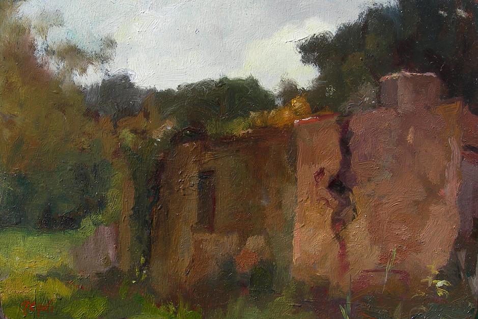 Il rudere spaccato al Fontanaccio