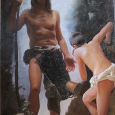 Diogene getta la ciotola dopo aver visto un ragazzo che beve dal cavo della mano