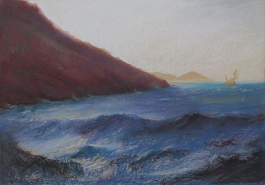 Mareggiata a Nisportino e l'Enfola (l'arrivo degli Argonauti all'Elba)