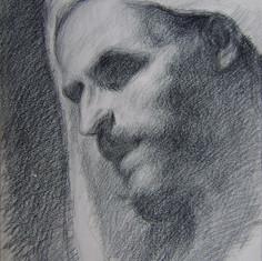 Studio dal vero dalla Resurrezione di Lazzaro di Mattia Preti