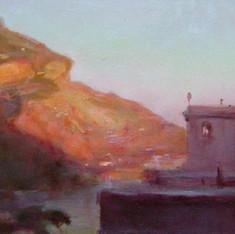 Tramonto sulla costiera amalfitana (Omaggio a Giacinto Gigante)