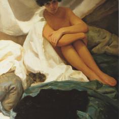 Piera con gattino