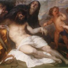 Copia dal vero del Compianto sul Cristo morto da Antoon Van Dyck