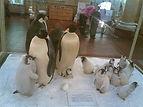 Пингвины в музее арктики и антарктики недалеко от отеля Андреевский