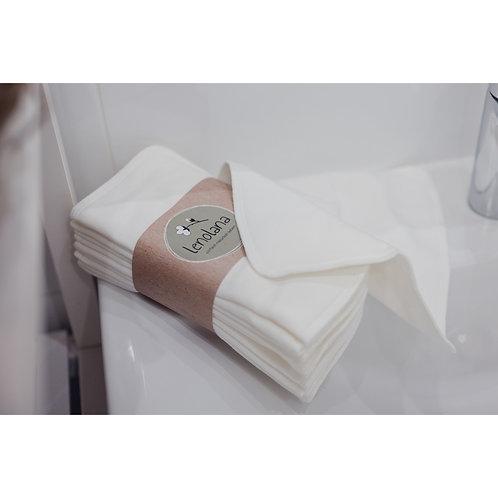lenolana Waschbare Reinigungstücher 10 Stück Bambusviskose