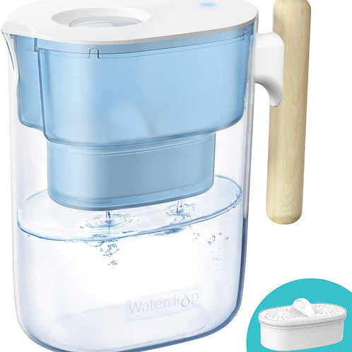 Water Filter Pitcher, Chubby Blue
