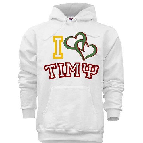 I Love Greek Hooded Sweatshirt