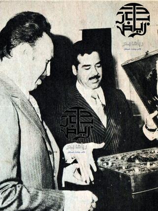 صدام حسين مع الهواري بومدين