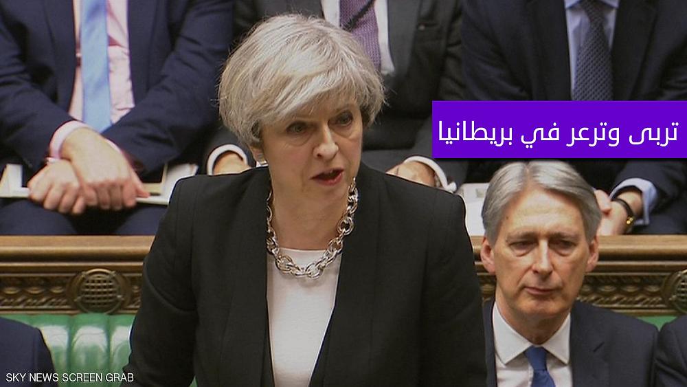 تيريزا ماي في البرلمان البريطاني