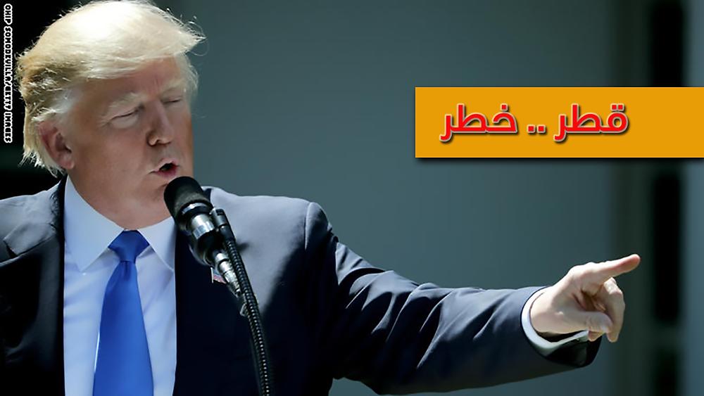 ترامب ساعد بقطع العلاقات مع قطر