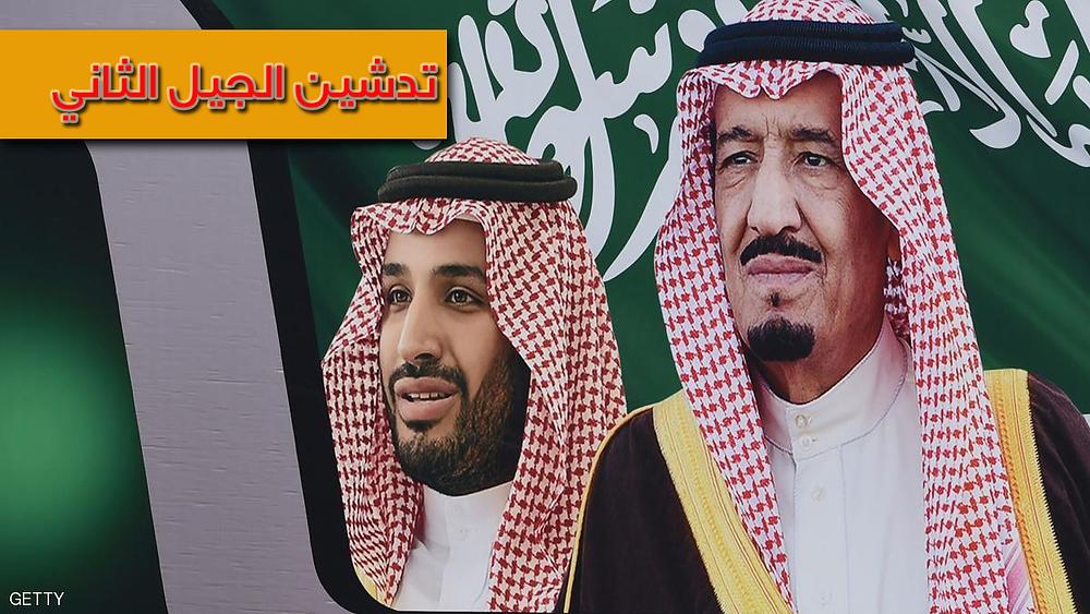 المللم سلمان وولي العهد الامير محمد بن سلمان