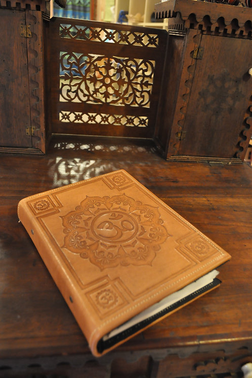 Leather  Om Journal with lined paper