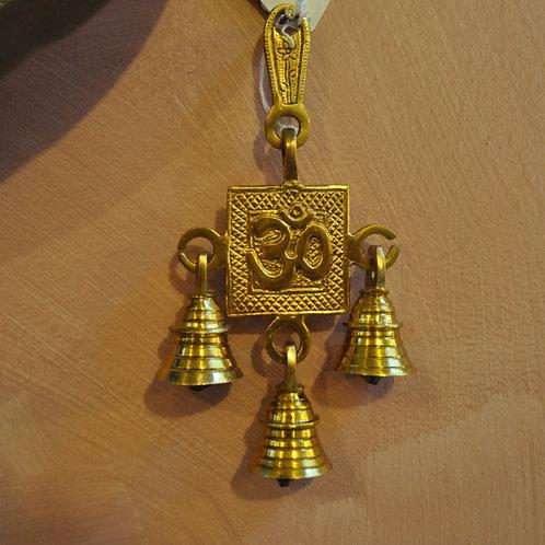 Brass Om triple bells