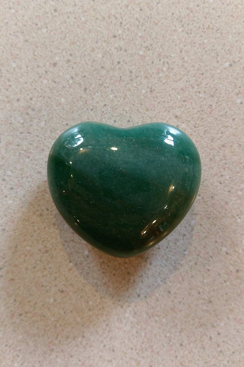 Heart Shaped Green Aventurine crystal