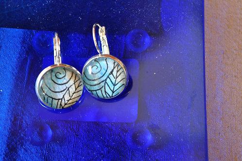 Zentangle inspired earrings