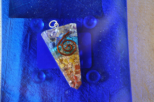 Orgone with Spiral detail pendant