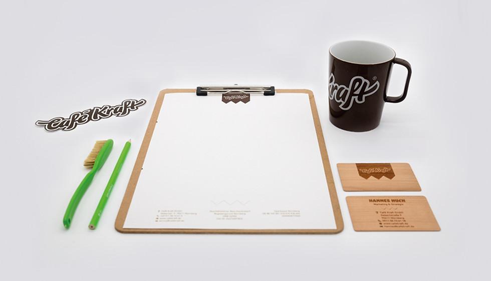 Cafe Kraft Geschäftsausstattung