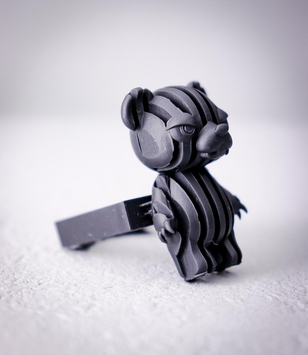 熊ストライプ/ stripe BEAR ring