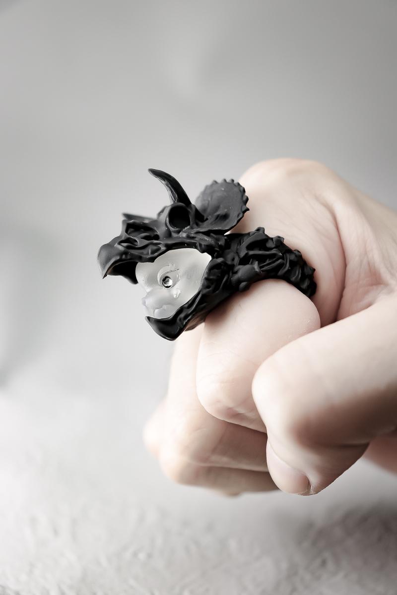 """猫に恐竜""""トリケラトプス"""""""