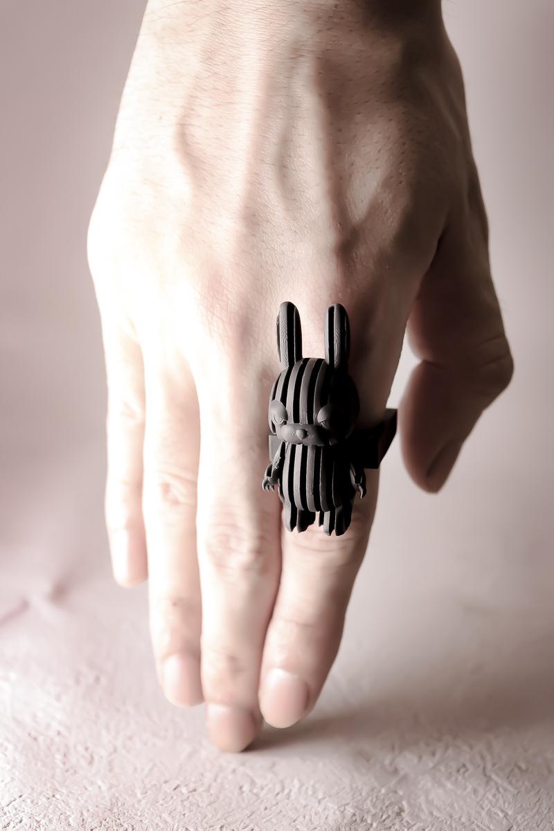 兎ストライプ / stripe RABBIT ring