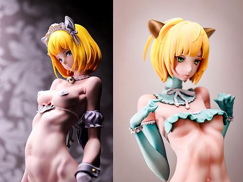 stepgirl-CAT & stepgirl-FOX (未塗装未組み立てガレージキット)