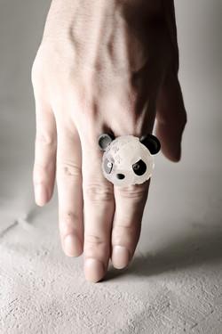薔薇パンダ / Rose PANDA ring