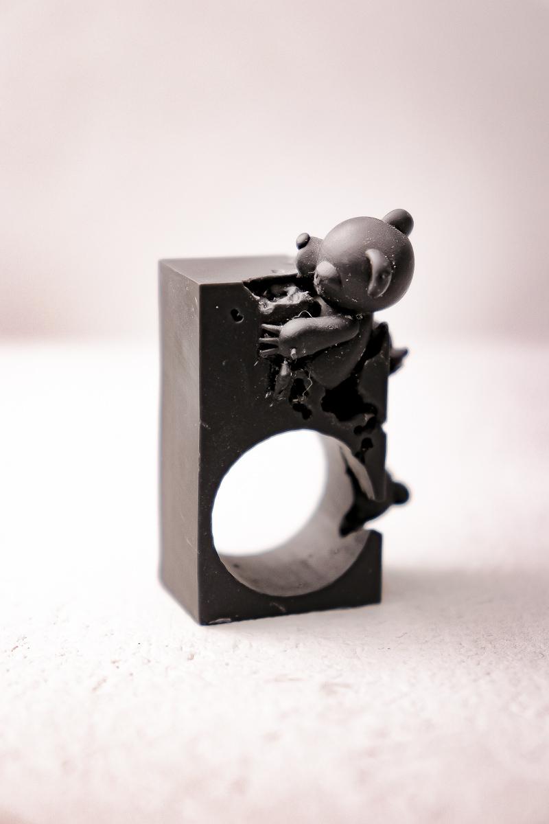 """Bear,Bear … and Bear """"SQUARE"""" / ring"""