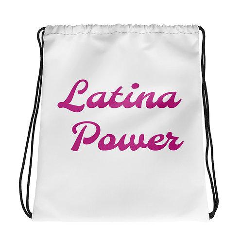 Latina Power Drawstring bag