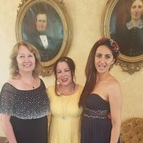 With Liudmila Bondar and Tanya Freund at the Turner-Dodge House and Heritage Center of Lansing, MI