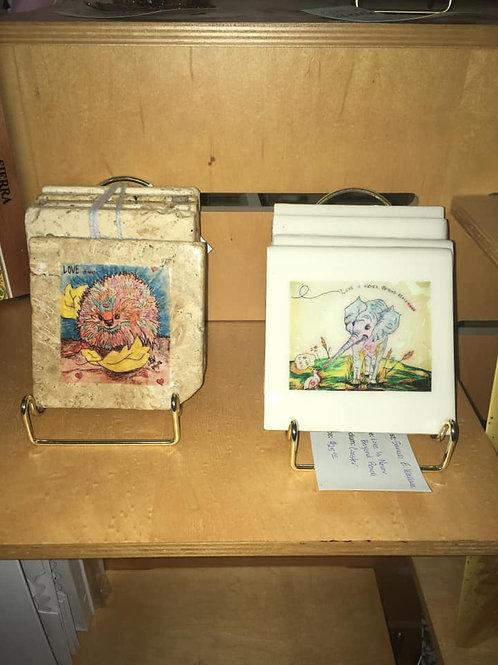 Coasters or Hotplates with Original Artwork