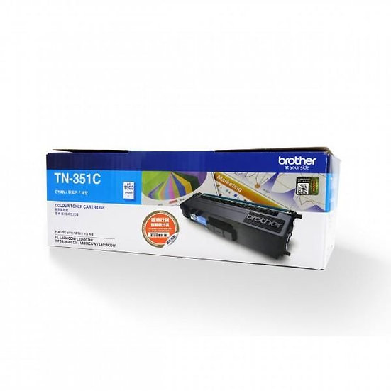 Brother TN-351C Standard Toner Cartridge Cyan (1500 pages)