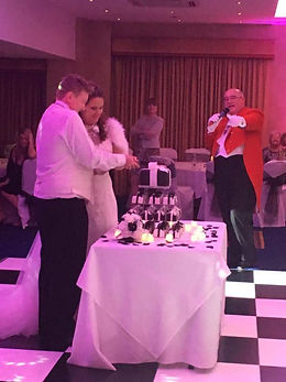 Cutting the cake Bull Hotel Gerrards Cross