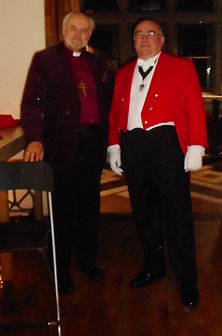 Acting as Toastmaster to the Lord Bishop of London. Merville France