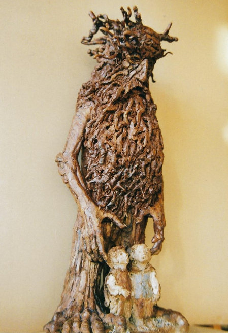 Treebeard with Merry and Pippin - Lord of the Rings