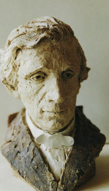 Lewis Carroll bust made for the LCSNA President