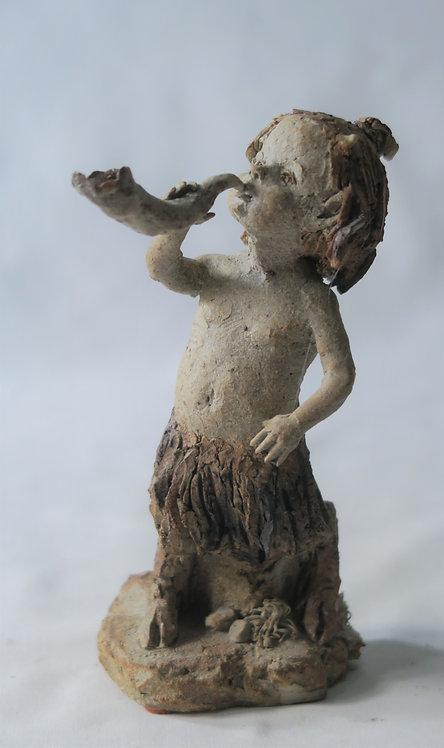 Faun Blowing Horn