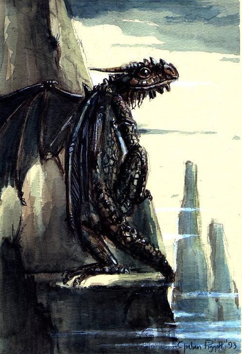 Semi-Winged Dragon Climbing