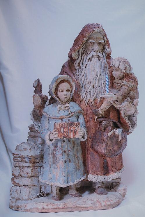 Victorian Santa with children