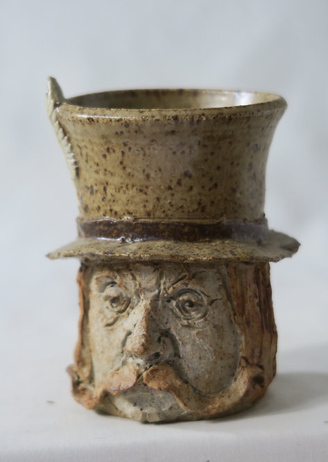 Feather In Gent's Hat Vase