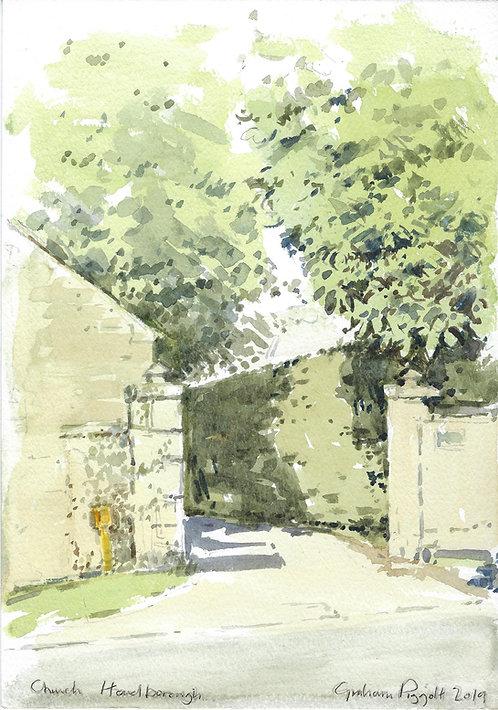 Church Hanborough Rectory Gate Entrance