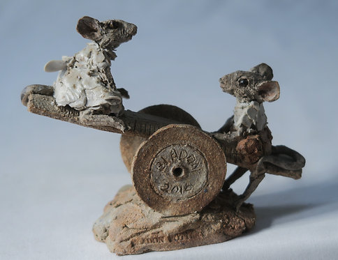 Mice Cotton Reel See-Saw