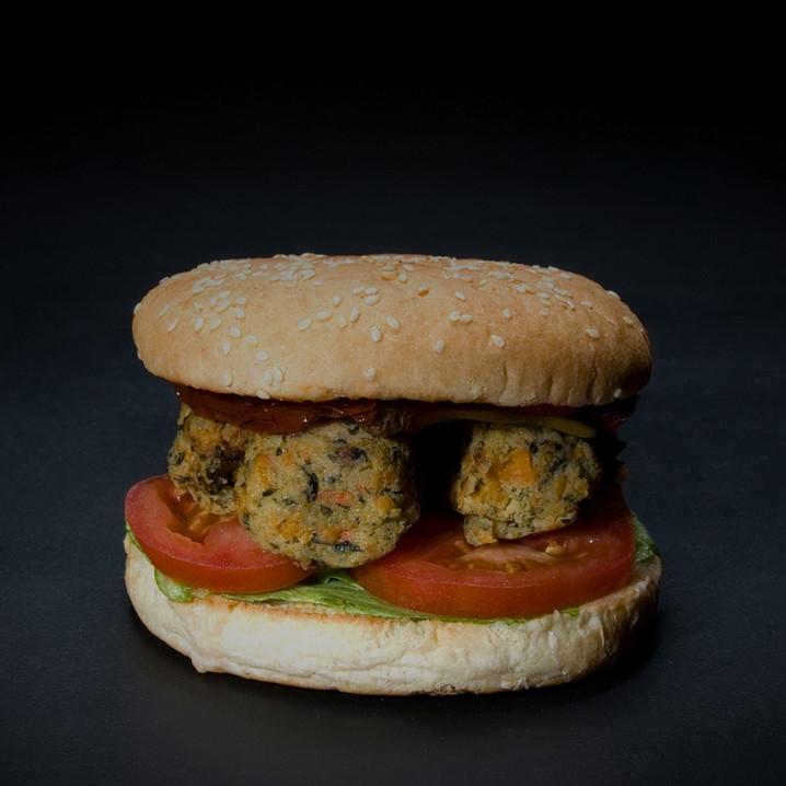 VeganBasil & Squash Burger